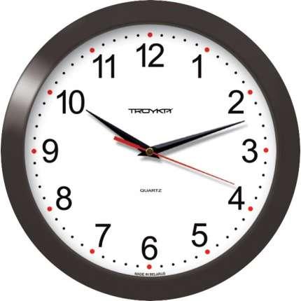 Часы настенные Troyka круглые, D290мм, корпус пластик