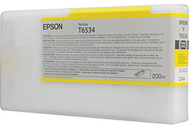 T6534 Yellow 200 мл (C13T653400) epson t7014 xl c13t70144010 yellow картридж для workforce pro wp 4000 5000 series