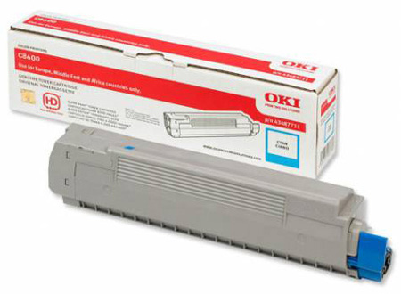 Тонер-картридж TONER-C801/C821-C-NEU (44643003 / 44643007) 4 pack high quality toner cartridge oki c801 c810 c821 c830 mc860 c861 color full compatible 4406412 4406411 4406410 4406409