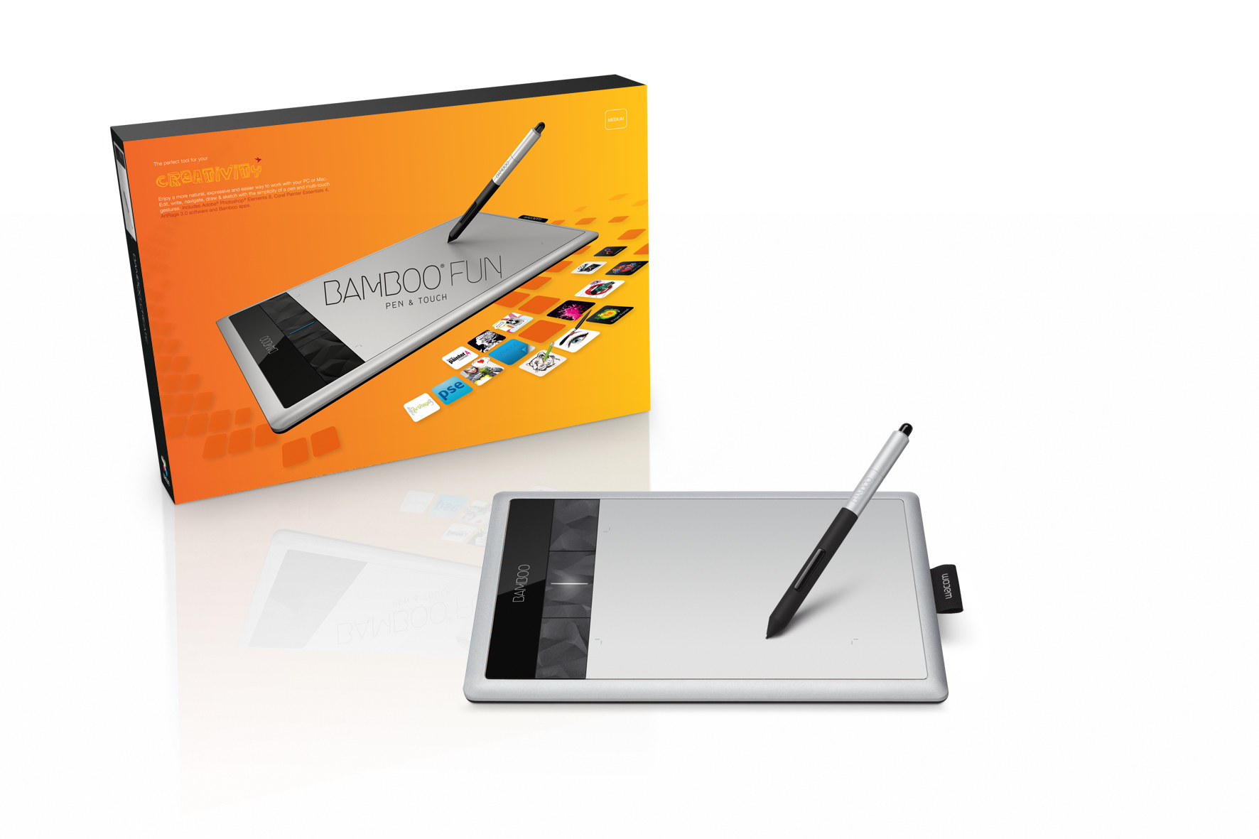 Графический планшет wacom bamboo fun pen touch m