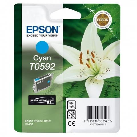 Картридж с голубыми чернилами Epson T0592 (C13T05924010) картридж epson c13t05924010