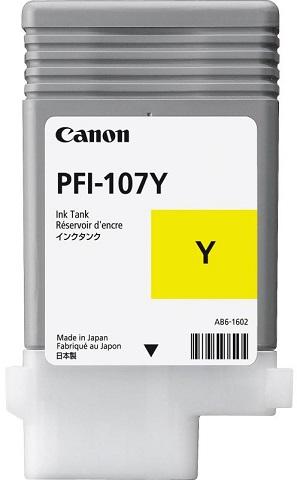 Картридж Canon Black PFI-107 Y (желтый), 90 мл от FOROFFICE