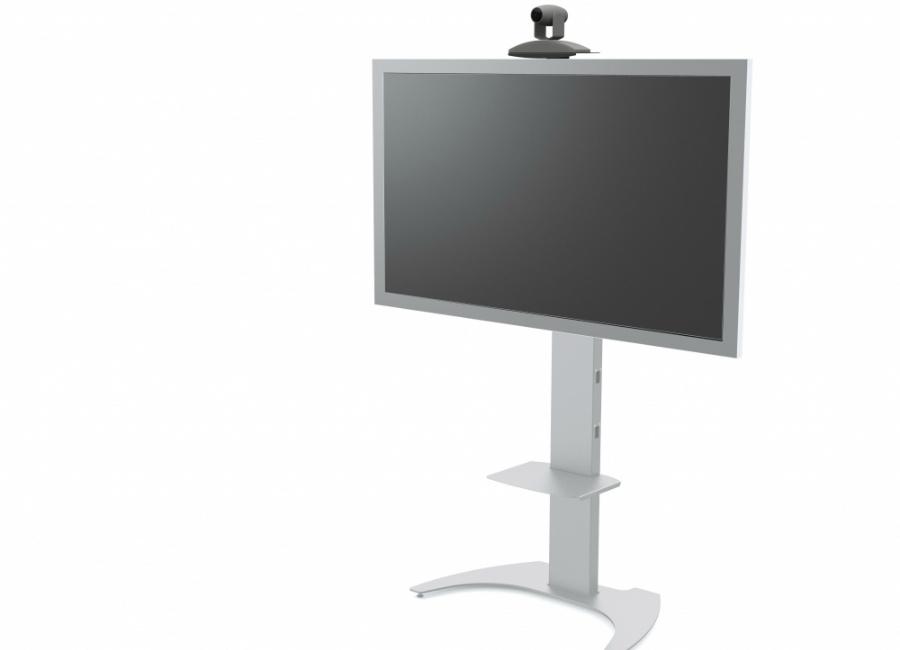 Мобильная стойка для панелей и телевизоров M65 (silver) стойка под колонки fix vm s05