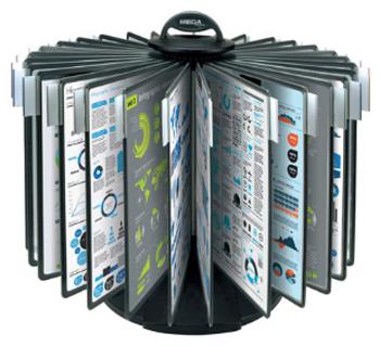 Купить Настольная система ProMega Office «Карусель» (A4, черная) в официальном интернет-магазине оргтехники, банковского и полиграфического оборудования. Выгодные цены на широкий ассортимент оргтехники, банковского оборудования и полиграфического оборудования. Быстрая доставка по всей стране