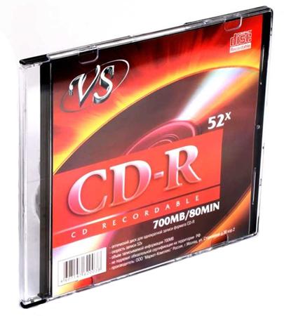 Купить Диск CD-R «VS» 700Mb/-80мин, 1-52х, 5шт/-уп в официальном интернет-магазине оргтехники, банковского и полиграфического оборудования. Выгодные цены на широкий ассортимент оргтехники, банковского оборудования и полиграфического оборудования. Быстрая доставка по всей стране