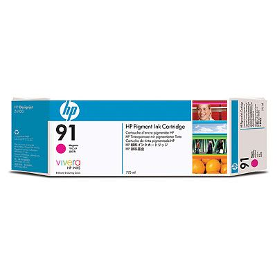 Картридж HP Pigment Ink Cartridge HP 91 Magenta (C9468A) картридж hp c9468a 91 для hp dj z6100 пурпурный