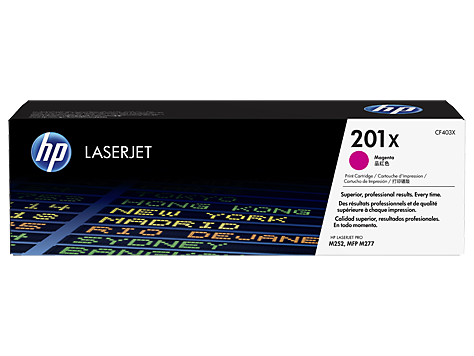 Картридж HP 201X LaserJet (CF403X) картридж hp cf403x для laserjet pro m252n m252dw пурпурный 2300 страниц hp 201x