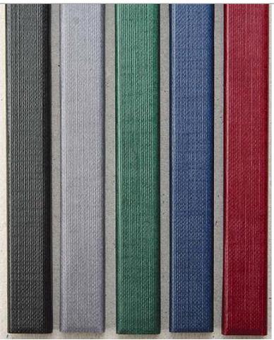 Цветные каналы с покрытием «ткань» O.CHANNEL SLIM А4 304 мм 32 мм, черные