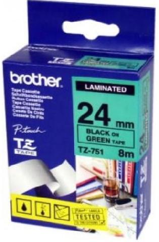 Плёнка для наклеек TZE-751 плёнка для наклеек brother tze 661 чёрный шрифт на жёлтой основе 36мм 8м