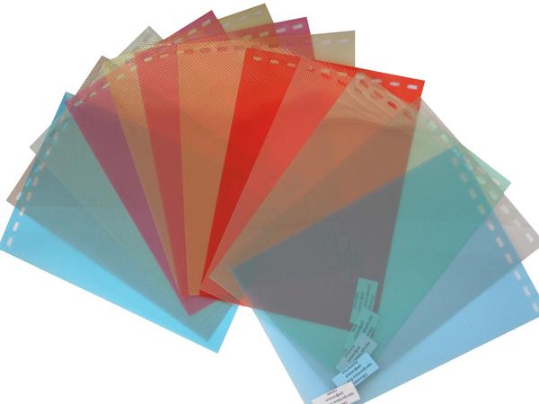 Обложки пластиковые, Рифленые (ПП), A4, 0.40 мм, Красный, 50 шт