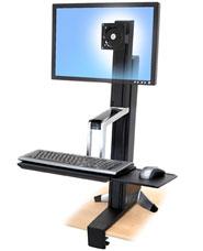 Крепление_Ergotron WorkFit-S настольное рабочее место, монитор (до 30 дюймов) (33-344-200)