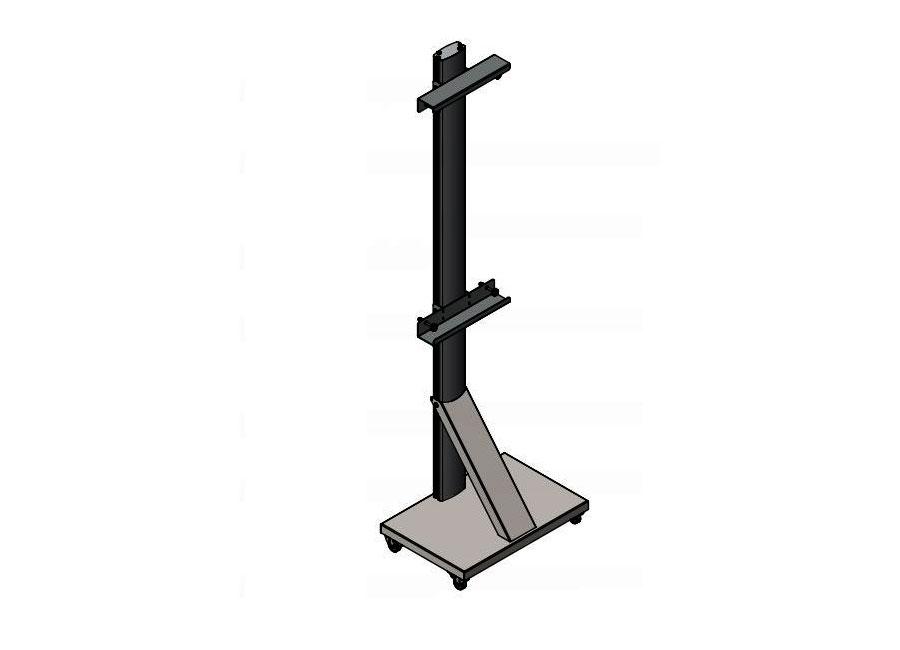 Стойка мобильная UMS-1 для интерактивных досок стойка для одежды artmoon sam мобильная цвет черный хром