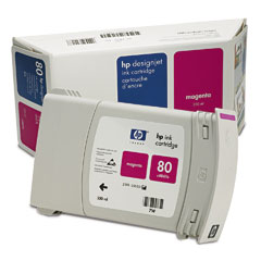 Картридж HP Inkjet Cartridge №80 Magenta (C4847A) hp 83 680ml magenta c4942a
