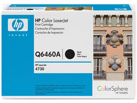 Картридж HP Q6460A для Color LaserJet 4730 MFP. Черный. 12000 страниц.