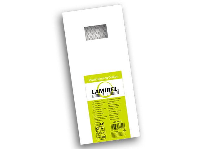 Пластиковая пружина Lamirel, диаметр 12 мм, белая, 100 шт