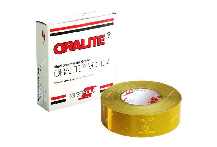 Световозвращающая лента Oralite/Reflexite VC104 Rigid Grade Commercial для жесткого борта, желтая 50 м