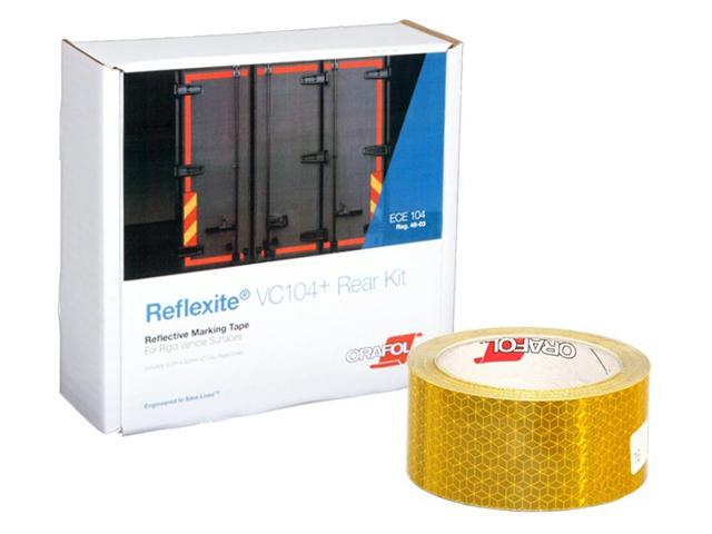 Световозвращающая лента Oralite/Reflexite VC104+ Rigid Grade для жесткого борта, желтая 12.5 м