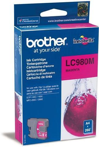 Картридж LC980M картридж brother lc980m пурпурный