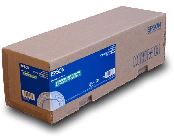 Рулонная бумага_Epson Enhanced Matte Paper 17, 432мм х 30.5м (192 г/м2) (C13S041725)