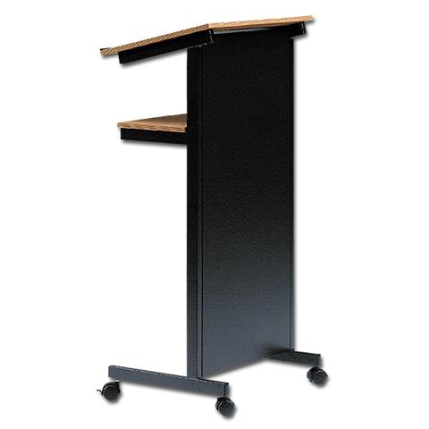 Портативная кафедра Projecta Classic универсальная тёмно-серая на колёсах (11300006)