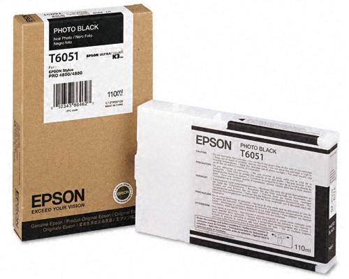 Картридж Epson C13T605100 Photo Black с фото чернилами