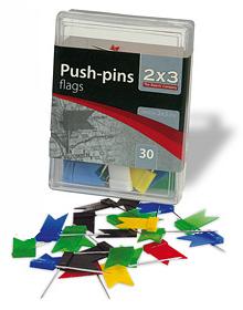 Кнопки-флажки для пробковых досок 2x3