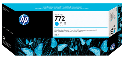 Картридж HP Pigment Ink Cartridge №772 Cyan (голубой) картридж hp pigment ink cartridge 70 black z2100 3100 3200 c9449a