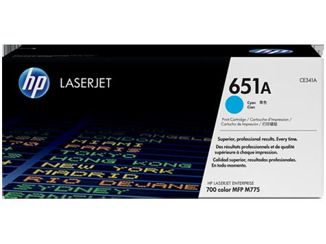 Картридж HP CE341A (№651A) для принтеров HP LaserJet 700 Color MFP 775. Голубой.