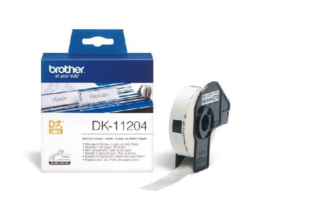 Многофункциональные наклейки Brother DK11204 от FOROFFICE