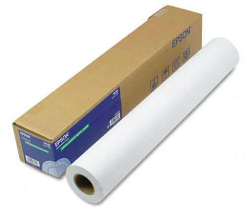 Рулонная бумага_Epson Singleweight Matte Paper 24, 610мм х 40м (120 г/м2) (C13S041853)
