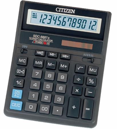 Калькулятор SDC-888TII 27х159х205мм, 12разр., черный калькулятор citizen sdc 554s 667496