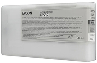 Картридж со светло-серыми чернилами T6539 (C13T653900) new 4900 compatible cartridge for epson t6531 t6539 t653a t653b refillable ink cartridge for epson stylus pro 4900 with arc chip