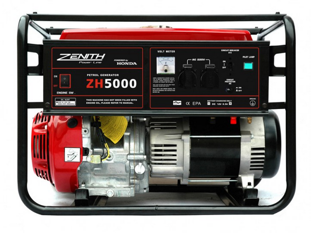 Бензиновый генератор_Zenith ZH5000