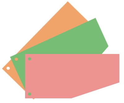 Разделительные полоски Attache для А4 100шт, зеленые (230×120мм) Компания ForOffice 71.000