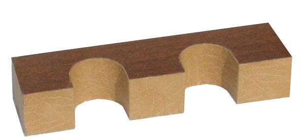 Верхний ложемент с отделкой кожей на 2 ствола
