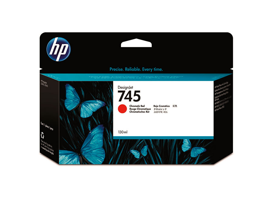 Картридж HP Designjet 745 Chromatic red 130 мл (F9K00A) картридж hp designjet 745 photo black 130 мл f9j98a
