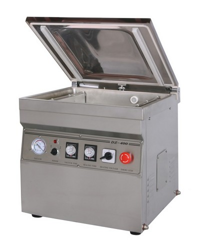 Настольная вакуум-упаковочная машина HL DZQ-400/2T (нерж., газ)