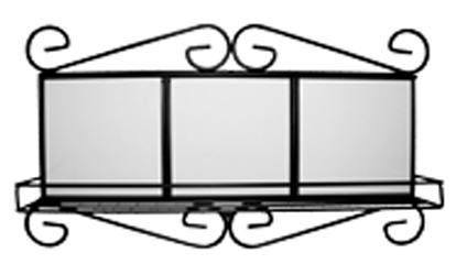 Рамка металлическая для плитки с полкой от FOROFFICE