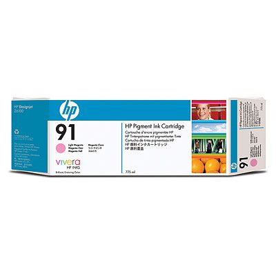 Картридж HP Pigment Ink Cartridge HP 91 Light Magenta (C9471A) картридж hp c9471a 91 для hp dj z6100 светло пурпурный