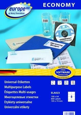 Самоклеящиеся этикетки Europe100 ELA023 этикетки универсальные qp 38x21 2 мм ij l k 3666