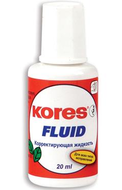 Корректирующая жидкость Kores Fluid быстросохнущая 20мл Компания ForOffice 30.000