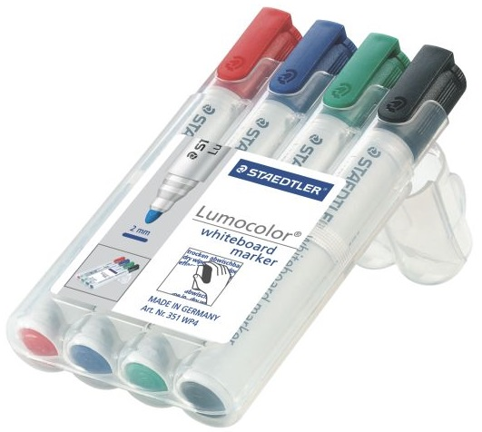 набор из 4-х разноцветных маркеров для досок Staedtler