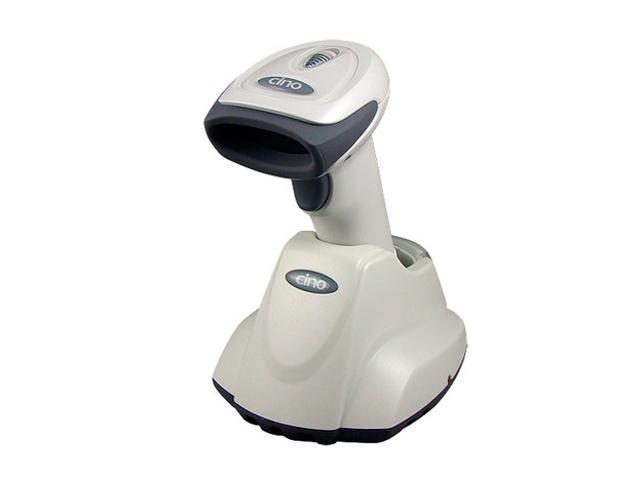 Беспроводной сканер штрих-кода Cino F680BT RS светлый (в комплекте с базовой станцией)