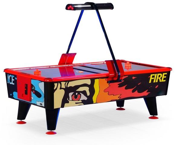 Игровой стол_Аэрохоккей Wik Ice and Fire (купюроприемник)