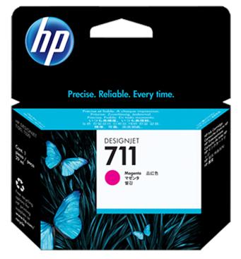 Картридж HP №711 Magenta (CZ135A) hewlett packard hp designjet t120 24 cq891a
