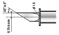 Нож ZEC-U3075 для резки толстых материалов (угол 32) для плоттеров   (оригинальный)