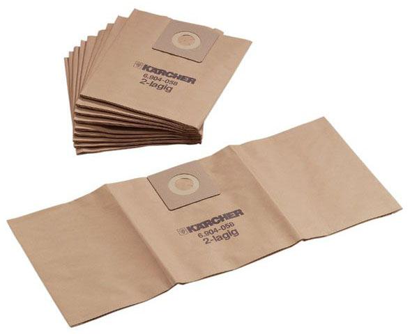Бумажные фильтр мешки (двухслойные) для пылесоса Karcher Т 201
