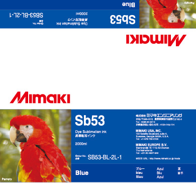 Чернила Mimaki SB53 Blue