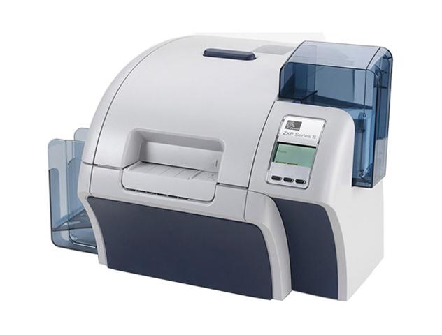 Принтер для пластиковых карт Zebra ZXP Series 8 DS с запираемым корпусом и устройством подачи карт