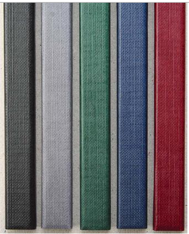 Цветные каналы с покрытием «ткань» O.CHANNEL SLIM А4 304 мм 32 мм, синий